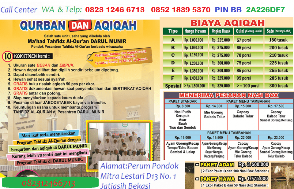 Daarul Munir Aqiqah Bekasi