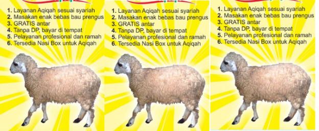 harga dan daftar paket aqiqah bekasi